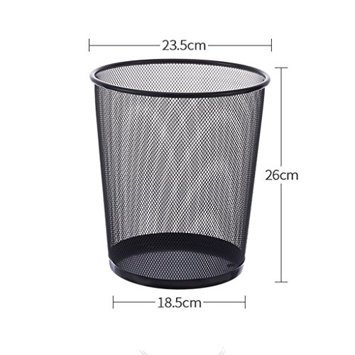 PRX Home office trash kitchen living room bathroom trash can barbed wire thickening without cover paper basket (Size : S)