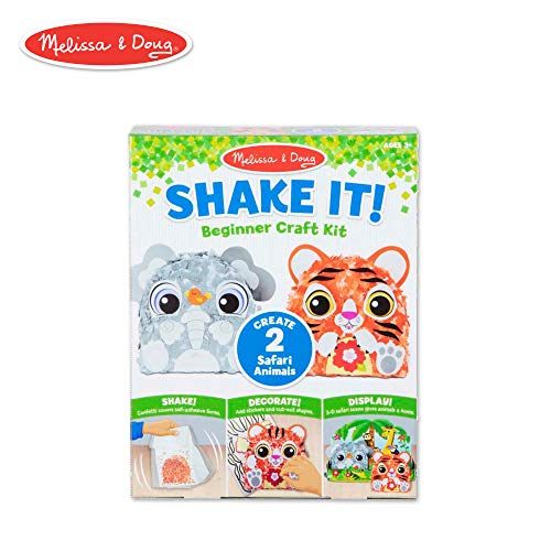 Melissa & Doug Shake It! Safari Animals Beginner Craft Kit