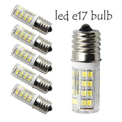 120v T4 Medium Screw - E17 LED T7 T8 Intermediate Base LED Appliance Bulb T8 T7 Lightbulb Dimmable 110 volt - 130v Pack of 2 Microwave Oven Light Bulbs(Daylight 5 Pieces)