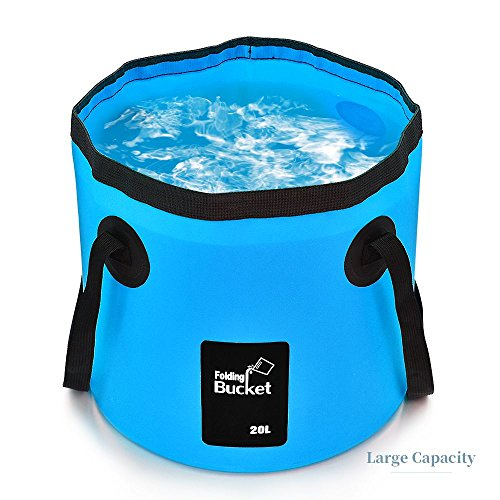 YUZHISEN Collapsible Bucket Camping Water Storage Container 5.28 Gallon Portable Folding Bucket Wash Basin for Traveling Hiking Fishing Boating Gardening
