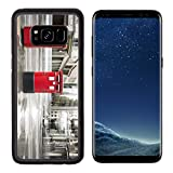 MSD Premium Samsung Galaxy S8 Aluminum Backplate Bumper Snap Case English style red mailboxes vintage buildings IMAGE 24191889