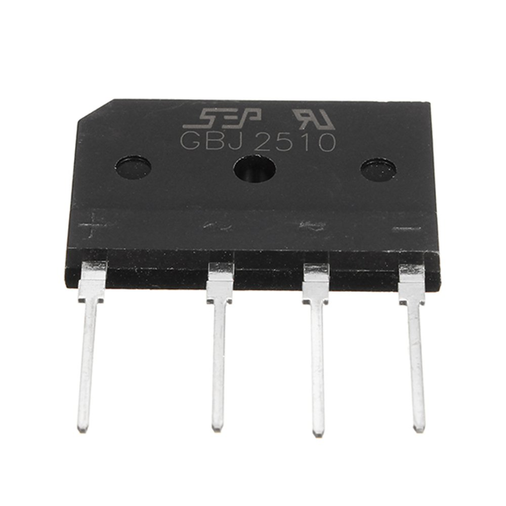 Utini 25A 1000V Diode Rectifier Bridge GBJ2510 Power Electronic Components for DIY Projects