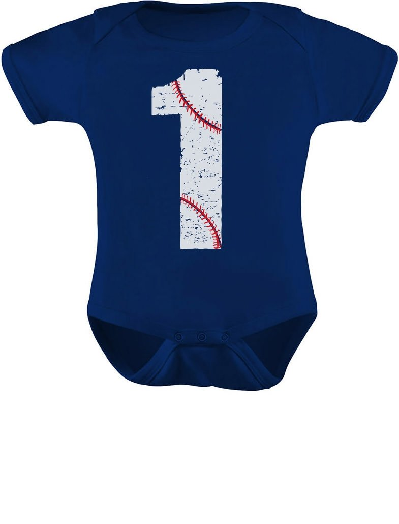 Tstars – Baseball 1st Birthday Gift for One Year old Infant Baby Bodysuit