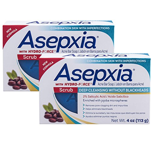 Asepxia Scrub Exfoliante Cleansing Bar Soap 4 oz (Pack of 2)