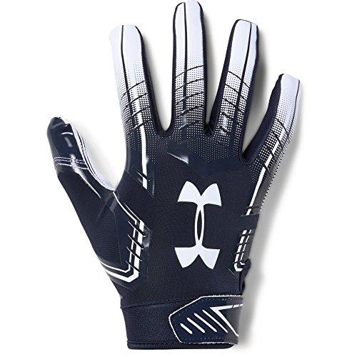 6 Football Gloves, Midnight Navy (410)/White, Small/Medium ()