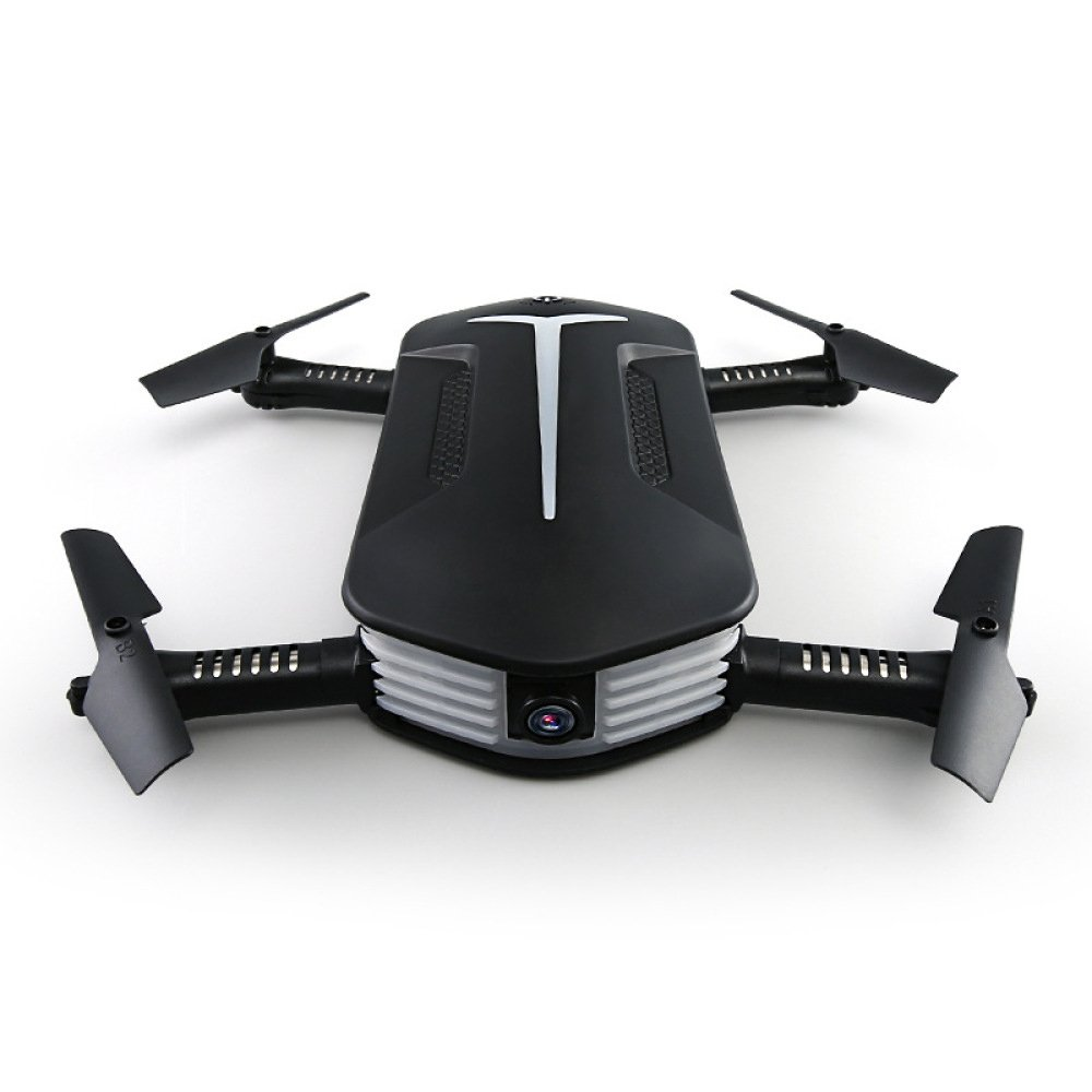 Droni RC Drone Mini FPV Quadcopter WiFi Pieghevole Con Fotocamera HD Da 2 MP 2.4 GHz 6 Assi Gyro 4CH Altitude Hold E Modalità Headless Helicopter(Nero),4Batteries