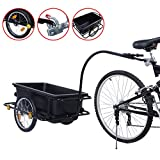 7x12 enclosed trailers - New Bike Bicycle Cargo Trailer Cart Luggage Carrier Steel Frame w/ Plastic Tank Steel