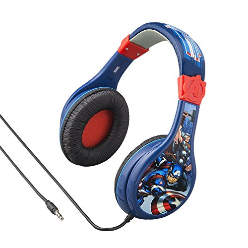 Avengers Assemble Headphones for Kids with Built in Volume Limiting Feature for Kid Friendly Safe Listening by eKids