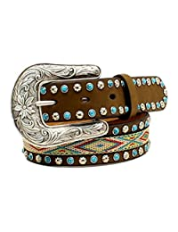 Nocona Girl's Western Ribbon Inlay Belt