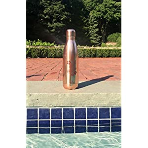 Reusable Stainless Steel Water Bottle, Double Wall Vacuum Insulated Tumbler, Back to School Thermos, 17 oz (Rose Gold)