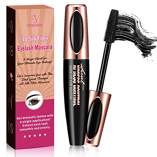 Natural 4D Silk Fiber Lash Mascara Black, Waterproof Mascara for Thicking, Lengthening & Voluminous Eyelashes, Smudge…