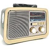 Caixa Som Antiga Radio Portátil Retro Am Fm Sd Usb Bluetooth A 3188 COM LANTERNA