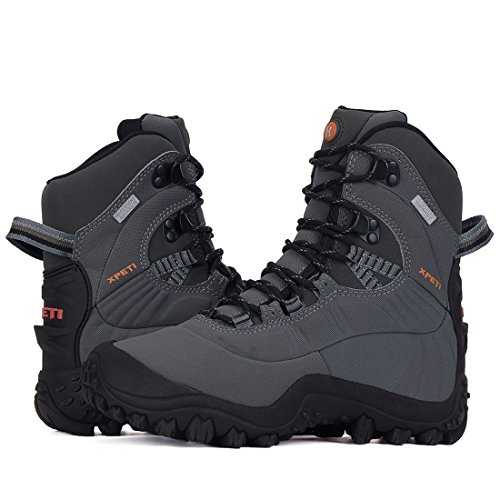 XPETI Women's Waterproof Mid High-Top Hiking Mountaineering Trekking Outdoor Boot Light Grey 10 by XPETI (Image #9)