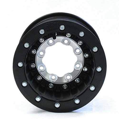 Hiper Wheel Tech 3 ATV Carbon Fiber Wheel - Dual Beadlock - 9x9 - 4+5 Offset - 4/110 - Black , Bolt Pattern: 4/110, Rim Offset: 4+5, Wheel Rim Size: 9x9, Color: Black, Position: Rear 0990 CAN DBL