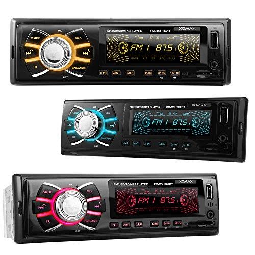 XOMAX XM-RSU262BT Autoradio aucun lecteur CD + Connexion Bluetooth + ...