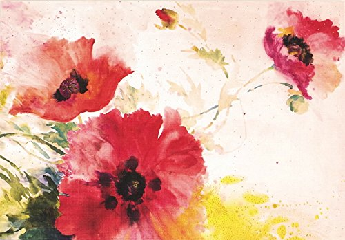 Watercolor Poppies Note Cards (Stationery, Boxed Cards)