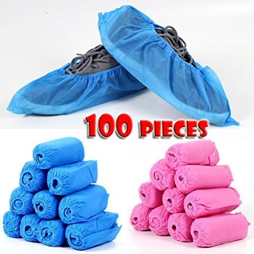 BESTOMZ 100 Stück Einweg Überziehschuhe Anti-Rutsch Schuhüberzieher
