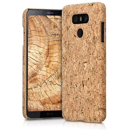 kwmobile LG G6 Case - Protective Cork Cover for LG G6 - Light Brown