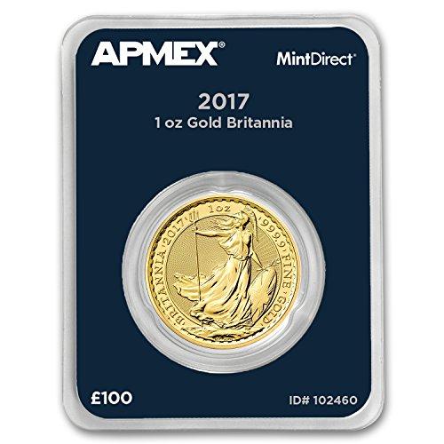 2017 UK Great Britain 1 oz Gold Britannia (APMEX MintDirect Single) 1 OZ Brilliant Uncirculated