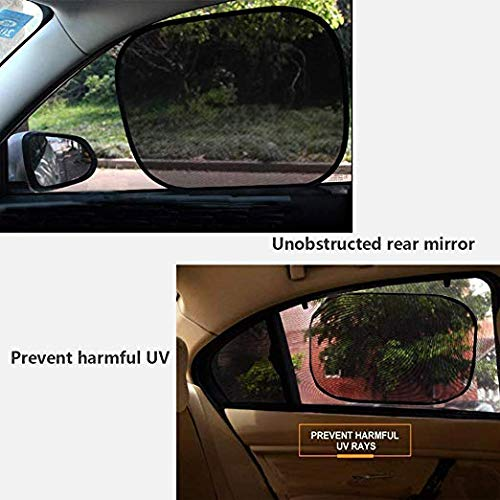 C Car Sun Shade for Baby Car Side Rear Sun Shade Front Window Sunshade for Cars Trucks /& SUVs 4 Pack Diagtree Car Window Shade