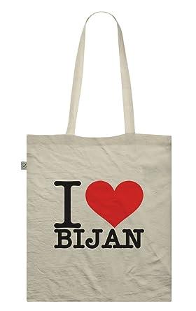 0e6d3bc368 I Love Bijan Tote Bag - Choice Of Colours - Name Boyfriend Girlfriend Alias  Identity  Amazon.co.uk  Clothing
