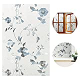 WINOMO 45200CM Static Cling Window Film Decorative Glass Sticker Peony Pattern Glass Decal Paper for Window DIY Home Decoration