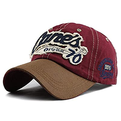 2018 snapback cap demin baseball cap Fashion Sports cotton casquette bone gorras Casual hat for men women cap (Red Color)