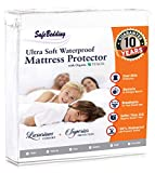 SafeBedding Waterproof Mattress Protector - Hypoallergenic Bed Cover (California King)