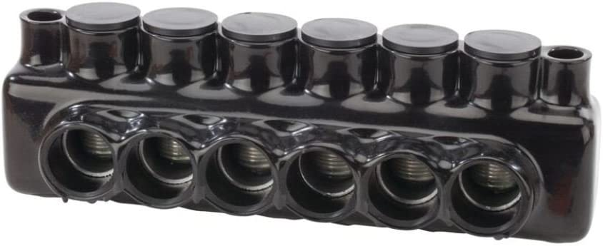 IPLMD Series 3.05 Height 9.71 Length 5//16 Hex 2.95 Width 3.05 Height 9.71 Length NSI Industries IPLMD600-6 600-6 AWG Wire Range 6 Ports 5//16 Hex Wire Entry From Either Side Polaris Connector with Mounting Hole 2.95 Width