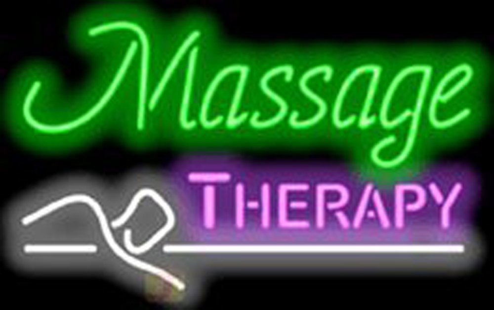 Massage Therapy Neon Sign24''x20'' Inches Bright Neon Light for Pedicure Spa Store Shop Real Glass New