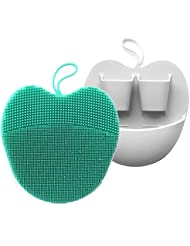 INNERNEED Soft Handheld Silicone Facial Cleansing Brush, Mild Anti-Slip Face Exfoliating and Massage Scrubber Pad (Pack of 2)