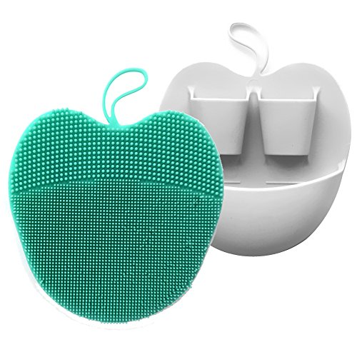 INNERNEED Soft Handheld Silicone Facial Cleansing Brush, Mild Anti-Slip Face Exfoliating and Massage Scrubber Pad (2pcs/Set)