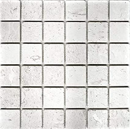 MOS29-49048_f - Azulejos de piedra caliza, color blanco