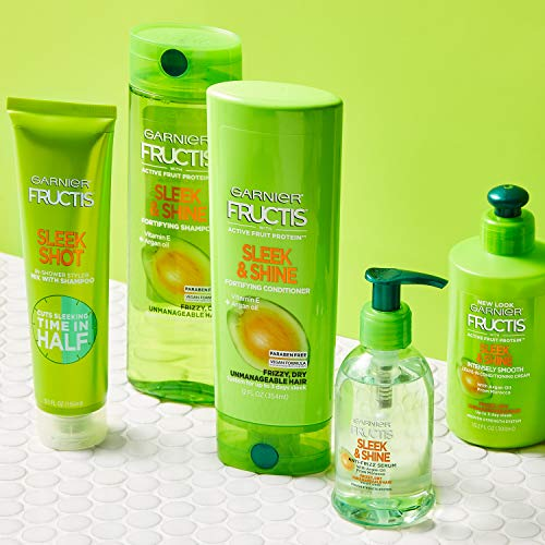 Garnier Fructis Sleek & Shine Anti-Frizz Serum for Frizzy, Dry, Unmanageable Hair, 5.1 Ounce