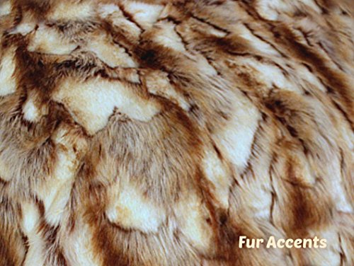 - Fur Accents Faux Fur Throw Blanket Brown and Cream