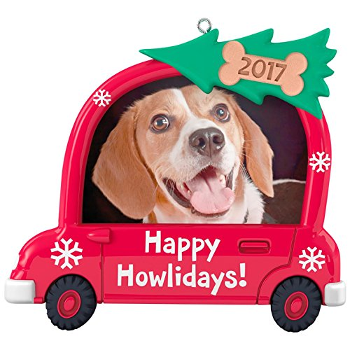 Hallmark Keepsake 2017 Happy Howlidays! Dog Picture Frame Dated Christmas Ornament (Ornament Dog Christmas Puppy)