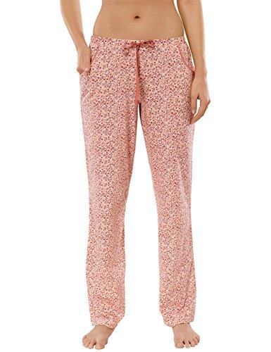 Schiesser Mix & Relax Hose Lang - Pantalones de pijama Mujer Gelb (apricot 603)