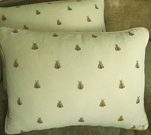 Napoleon Fabric - Chelsea Textiles Hand Embroidered Fabric Custom Designer Throw Pillows Napoleon Bees Set of 2 New Beige Golden Camel