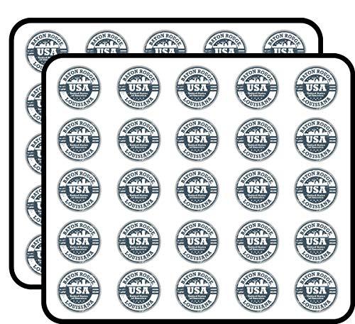 Baton Rouge City USA Grunge Stamp Art Decor Sticker for Scrapbooking, Calendars, Arts, Kids DIY Crafts, Album, Bullet Journals 50 Pack]()