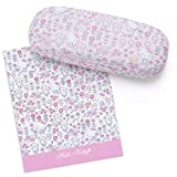 Sanrio Original Hello Kitty Eyeglass Case & Glasses Cloth : Flower