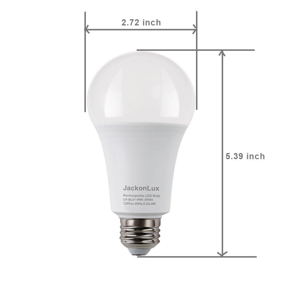 Rechargeable Emergency LED Bulb JackonLux Multi-Function Battery ...