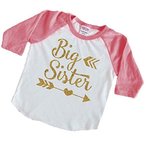 [Big Sister Shirt, Big Sister Toddler Shirt (6T)] (50 Outfits For Kids)
