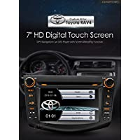 XTRONS 7 HD Digital Touch Screen GPS Navigation Car Stereo Radio DVD Player with Screen Mirroring Function for TOYOTA RAV4 2006-2011 Kudos Map Card Included