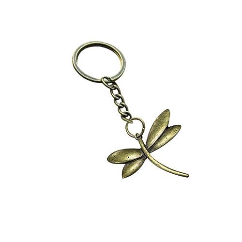 Latón llavero, diseño de libélulas, libélula de latón ...