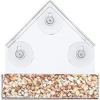 Balacoo Accesorios de alimentador de Nido de Jaula de pájaros casa Transparente Caja de Pared Transparente