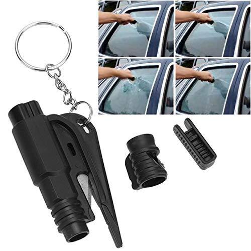 Alwayswe Martillo de Seguridad para Romper Ventanas de Emergencia con Llavero y Cortador de cintur/ón de Seguridad