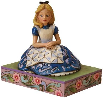 Enesco Jim Shore Jim Shore Wood Carving Tone Figure Alice in Wonderland Parallel Imports