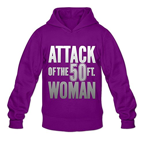 (Attack Of The 50 Ft,women Religion Casual Purple Long Sleeve Sweatshirt For Mens Size L)