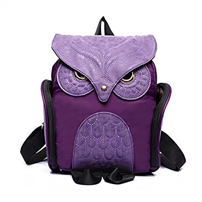 Estwell Women PU Leather Owl Backpack Handbag Casual Daypack Shoulder Bag Travel Rucksack