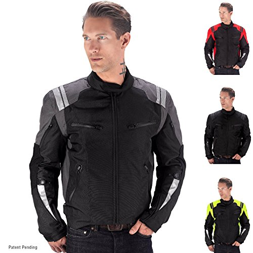 Viking Cycle Ironborn Motorcycle Textile Jacket (Black-M)